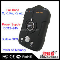 anti police gps radar detector 740A From Conqueror (2 in 1)