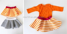 Unique Summer Clothing Kids Girls Sexy Short Mini Cotton stripes Skirt