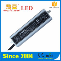 Outdoor Waterproof Shell Efficiency 83% DC12V/DC24V IP67 LED Power Supply 30W Driver