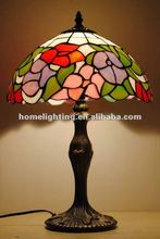 TFT1218-3 Tiffany decorative bowl glass lamp red shade patterns
