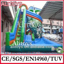 High Quality jungle theme large commercial grade inflatable screamer water slides for sale