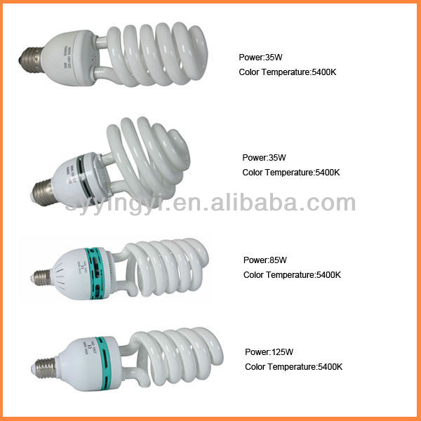 Photography studio bulbs spiral fluorescent bulb