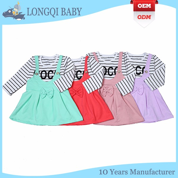 QZ-MS-001 Polyester and cotton material feature and breathable baby girl summer dress