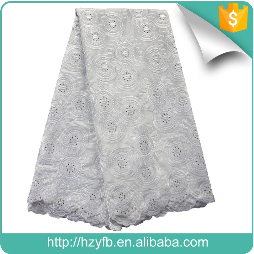 China best selling new arrive wholesale swiss lace / cotton churidar materials for big aso ebi
