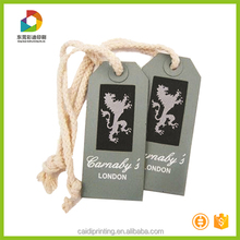 Custom cheap price hang tag bag tag with cotton string