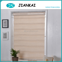 JK wholesale fibre waterproof roller blinds,cheap price zebra blinds, blinds and curtains together