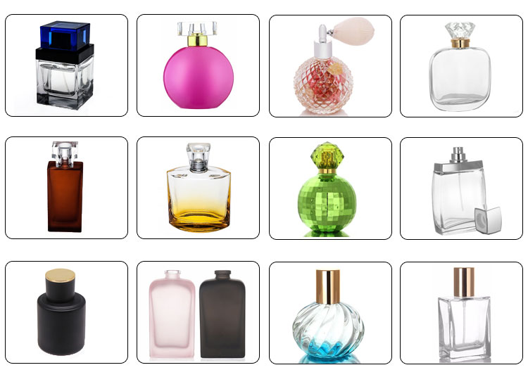 50ml oval transparent spray mist pump perfume bottle