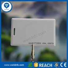 125 KHz T5577 Read and rewrite ABS Clam Shell EM Card for payment