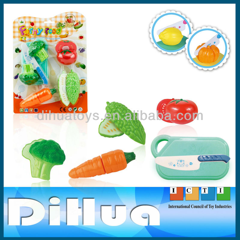 10 Pieces Plastic Fruit and Vegetables for Kids