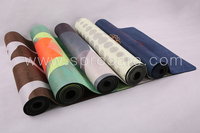 2017 New Custom Yoga and Pilate Exercise Mat,Natural Rubber and ECO-friendly,Extra Thick High Density Long Comfortable Yoga Mats