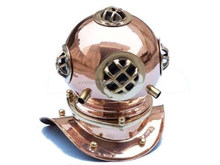 Brass and Copper Marine 8 inch Decorative Diving Helmet, Item number Sai-1601