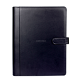 A4 leather notebook manager portfolio 2017 deboss portfolio with ring binder design