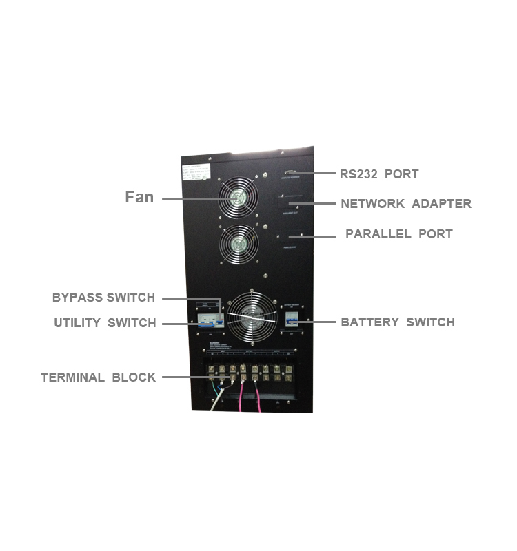 Single Phase Inbuilt Isolation Transformer Low Frequency UPS 6KVA