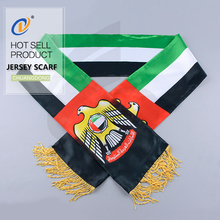 China factory national country fleece jersey scarf