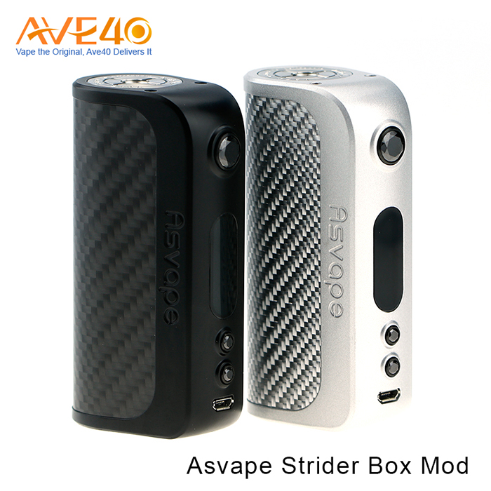 New Variable Voltage Hammer Mod E Cig Asvape Strider 75W Box Mod Match With Bottom Airflow RDA Tank