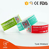 Tamper proof QR Code Tyvek Wristband Tickets for Resort Hotel