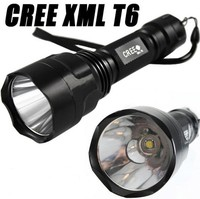 C8-T6 torch light 5-Mode XML LED 1000 Lumen torch Flashlight Torch for Riding, Camping, Hiking, Hunting & Indoor Activities