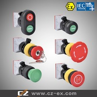 ATEX and IECEx Explosion proof push button for panel mounting