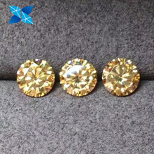 Yellow Champagne Green Pink Blue Black Fancy Color Moissanite Diamond