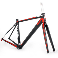 Size 44 / 46 / 48 / 50 / 52 / 54CM Chinese 7005 alloy road bike frame with full carbon fork