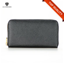 Women Saffiano Leather Branded Names Long Type Purse Wallet for Women