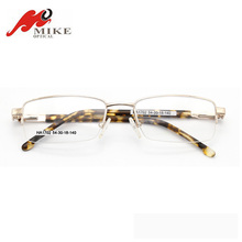 High level golden Half-rim Metal glasses pictures of optical frames