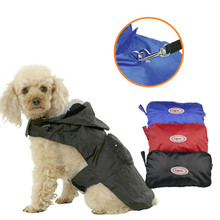 Hot Portable Pet Raincoat with Hat for Large Dogs