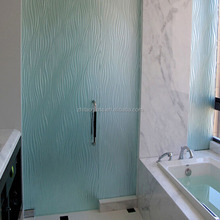 Tempered Frosted glass partition for bathroom