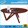SOLID WOODEN THICK TOP ROUND COFFEE TABLE