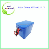 3s4p icr18650 li-ion rechargeable battery 12 volt 8800mah for electric power tool