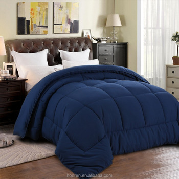 blue color Polyester Quilted Comforter Duvet Quilt - Hypoallergenic - Plush Microfiber Fill