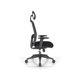 Beat black home office soho black headrest ergonomic chair