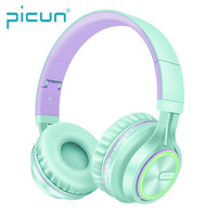 Picun B6 Portable On-ear Overhead Fashion Color Wireless Headphones for Mobile Phones