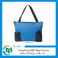 most fashionable cheap pice long handles shopping bag polyester tote bag