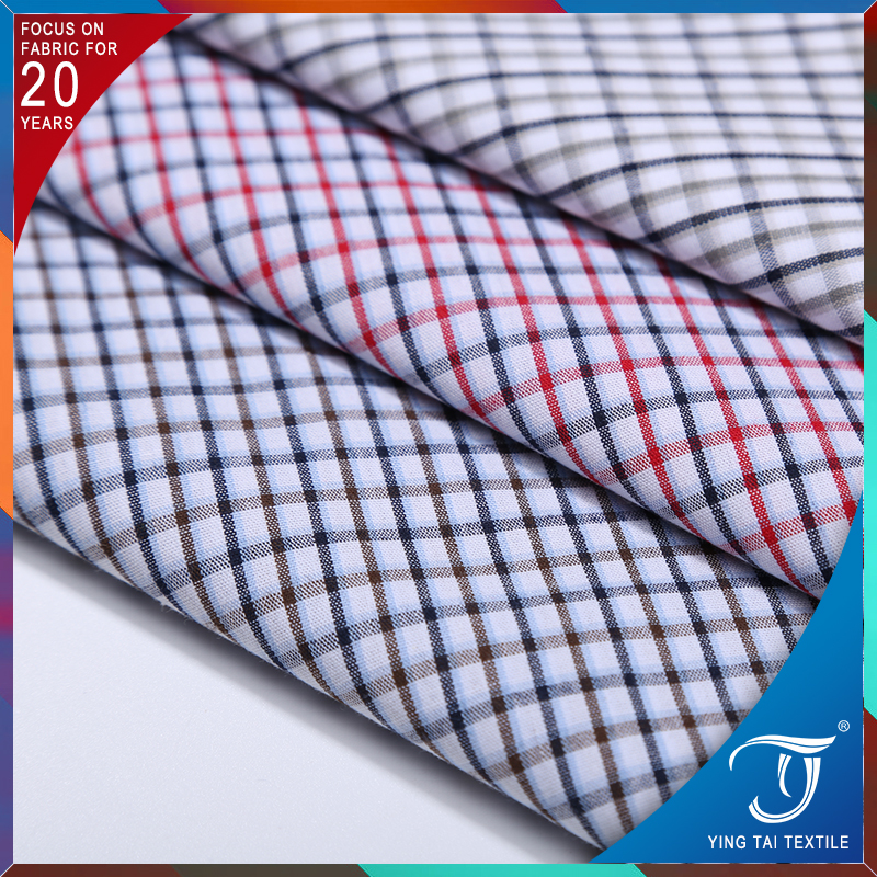 Wholesale egyptian shirting fabric 100% cotton gingham fabric for baby shirts