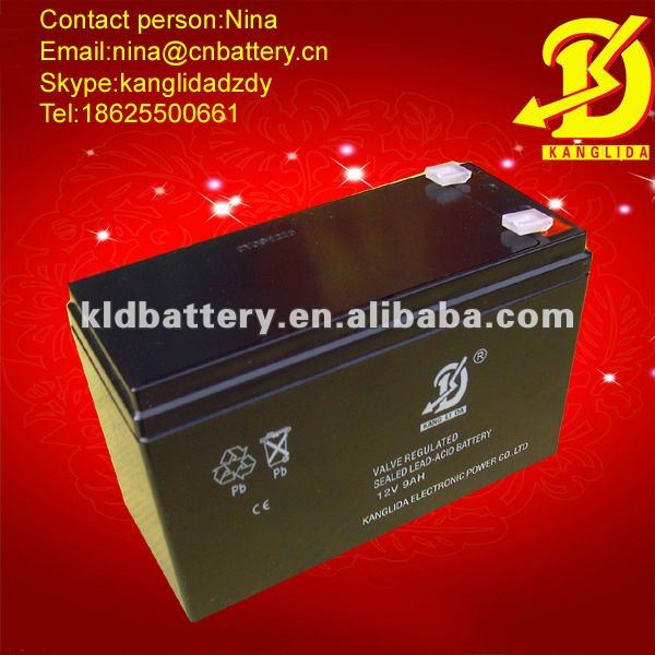 High capacity 12v9ah lead acid battery/storage accumulator
