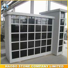 China Granite Columbarium With Square Niches price