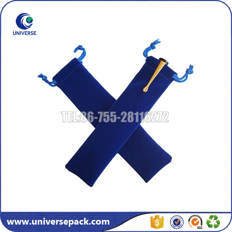 Alibaba China custom velvet pen bag with drawstring