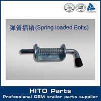 Free sample spring loaded sliding gate latch.spring loaded door latch for truck