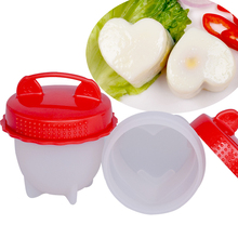 Newest Design Nonstick Bpa Free Heart Shape Portable Hard Boiled Egg Maker 6 Packs Set Silicone Egg Cooker Without Shell
