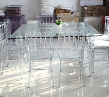 wedding event acrylic tables and chairs for sale