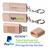 Paypal acceptable promotion gift free printing wooden usb flash drive