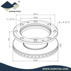 RUSS Iveco Truck Auto Brake Disc Rotor 717.1255