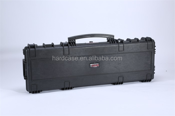 High quality durable hard plastic long gun case with wheels