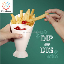 Cheap price plastic french fries salad finger food cone dipping cup