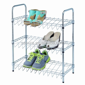 3TIER METAL WIRE WITH STANDER SHOES RACK,STORAGE RACK, 3 TIER SHOES SHELF AF-135025A3