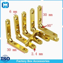 Small Jewelry Box Brass Side Rail Hinges