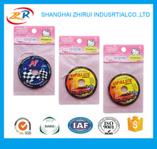circle shape funny type promotion Car Air Freshener with customized design
