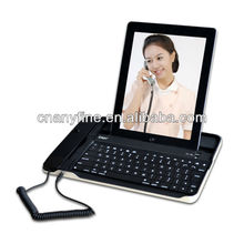 Bluetooth Wireless Keyboard with Skype Telephone Case for iPad2/3 for iPhone4G 4S 5