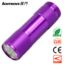 D9105 Mini 9 led 365nm 395nm uv Flashlight